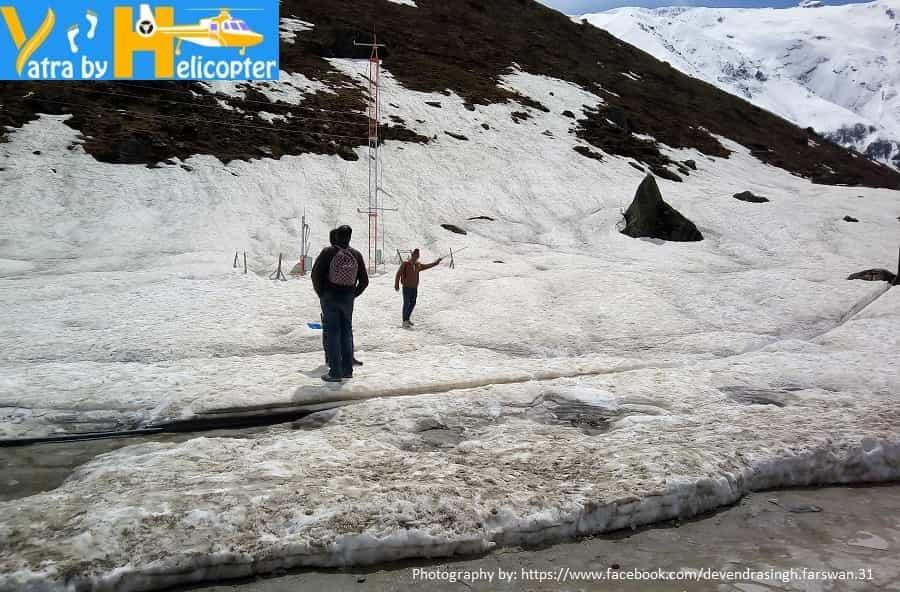 Frozen Kedarnath Lake