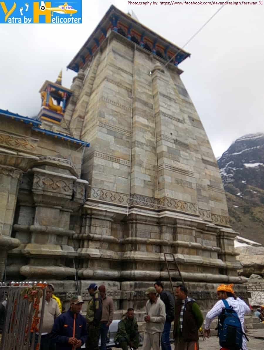 Side view of the Kedarnath Temple